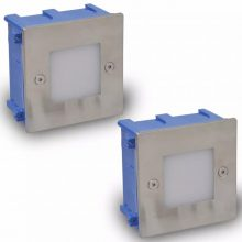 Kültéri LED lépcsőbe építhető lámpa B [2 db]