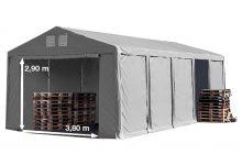 Vario raktársátor 5x10m - 3m oldalmagassággal-bejárat típusa: standard