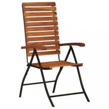 VID 2 db tömör akácfa dönthető kerti szék