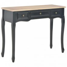 VID fekete/barna fésülködőasztal 3 fiókkal