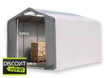 Raktársátor 4x6m professional 3m oldalmagassággal, 550g/m2 - tetőablakkal