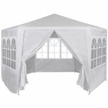 VID Hatszög alakú sátor fehér színben