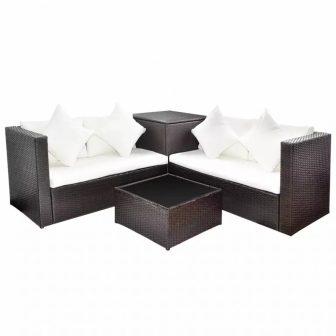 VID Lounge szett tároló ládával barna 423497