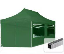 Professional összecsukható sátrak ECO 280g/m2-alumínium szerkezettel-3x6m-zöld