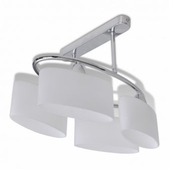 VID-Mennyezeti lámpa 4 db ellipszis búrával