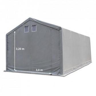 Raktársátor 4x10m professional 3m oldalmagassággal, 550g/m2