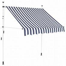 VID Manuálisan feltekerhető napellenző- 150cm - kék fehér csíkokkal