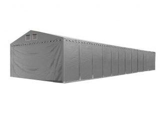 Raktársátor 5x24m professional 2,6m oldalmagassággal, szürke 550g/m2