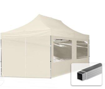 Professional összecsukható sátrak ECO 280g/m2-alumínium szerkezettel-3x6m-bézs