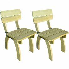 2 db impregnált fenyőfa kerti szék