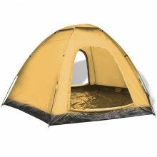 VID 6 személyes kemping sátor sárga színben