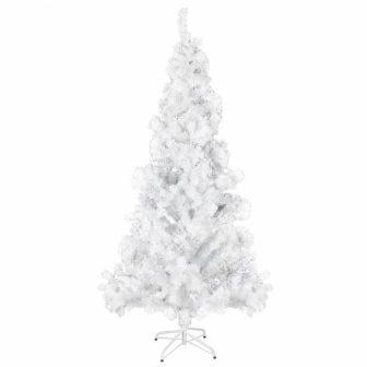 VID Fehér Karácsonyi terebélyes műfenyő- műanyag tartóval- 210 cm