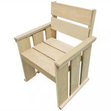 VID kültéri fenyőfa szék