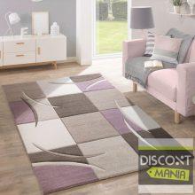 Mintás szőnyeg - 3D hatású kockás mintával - pasztell-lila - több választható méret