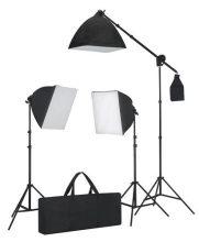 Softbox fotóstúdió lámpa szett - 3db