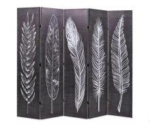 VID fekete/fehér paraván 200 x 180 cm tollak