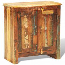 Újrahasznosított fa szekrény két ajtóval Vintage antik stílusú