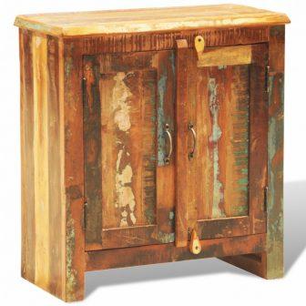 VID Újrahasznosított fa szekrény két ajtóval Vintage antik stílusú