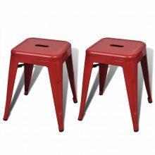 2 db fém ülőke piros színben