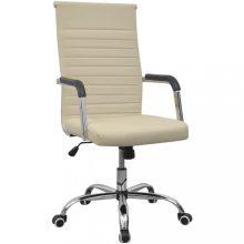 VID műbőr irodai szék 55 x 63 cm krém szín