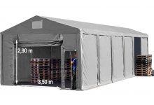 Vario raktársátor 8x16m - 3m oldalmagassággal-bejárat típusa: felhúzható