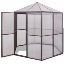 VID Hatszögletű economy üvegház/polikarbonát melegház