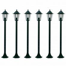 Shine Kültéri Lámpa 110 cm Sötétzöld 6 db