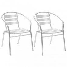 VID 2 db rakásolható alumínium kültéri szék