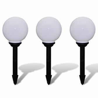 VID Napelemes Gömb kültéri lámpa LED 20 cm 3 db