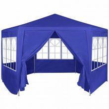 Hatszög alakú sátor kék színben