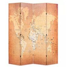 VID sárga paraván 160 x 180 cm világtérkép