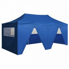 VID 3x6 m Pavilonsátor 4 oldalfallal kék színben