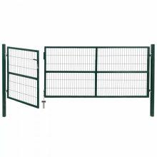 VID zöld acél kerti kerítéskapu póznákkal 350 x 120cm