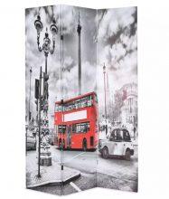 VID fekete/fehér paraván 120 x 180 cm londoni busz
