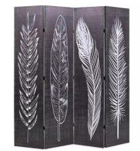 VID fekete/fehér paraván 160 x 180 cm tollak