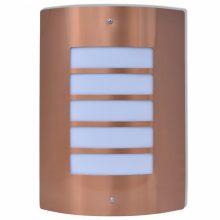 Rozsdamentes acél kültéri fali lámpa Rézszínű
