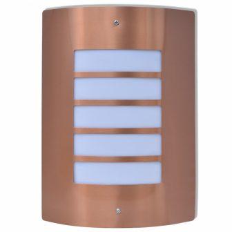 VID Rozsdamentes acél kültéri fali lámpa Rézszínű