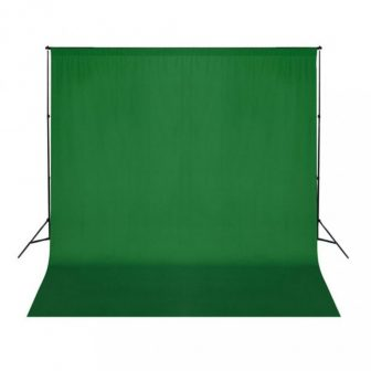 VID Hordozható zöld pamut fotóháttér 300x300 cm