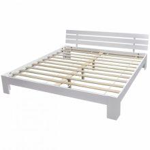 """Fa ágy 180x200 cm """"V8"""", ágyráccsal, fehér színben"""