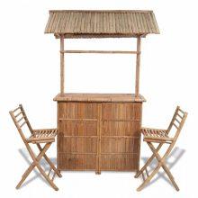VID  Kültéri bambusz bárpult székekkel