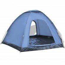 6 személyes kemping sátor kék színben