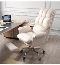főnöki design forgószék/fotel extra puha tapintású huzattal - krém színben- B ÁRU