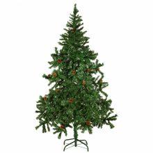Karácsonyi műfenyő fenyőtobozokkal - 180 cm
