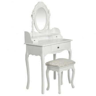 """VID Fésülködőasztal/sminkasztal tükörrel, ülőkével """"05"""""""