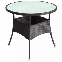 VID Kültéri polyrattan kerek asztal [60x74 cm]