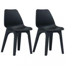 VID Antracitszürke színű műanyag kerti szék szett