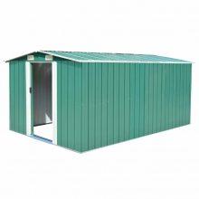 VID zöld fém kerti tároló 257 x 398 x 178 cm