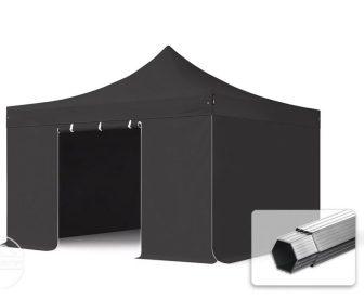 Professional összecsukható sátrak PROFESSIONAL 4x4m-400g/m2-alumínium szerkezettel-Fekete