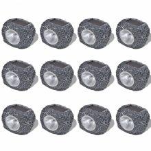 Kültéri napelemes LED lámpa Kő alakú [12db]