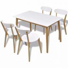 MDF nyírfa étkező szett 4 db székkel